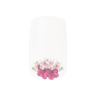 Flower Arrangement pink Minx Nail Art