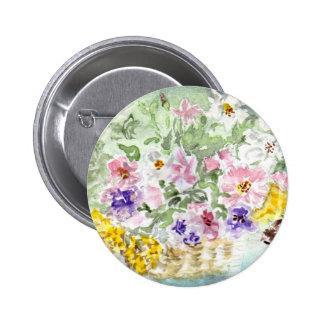 'Flower Basket' Button