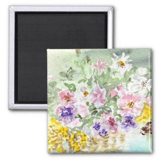'Flower Basket' Magnet