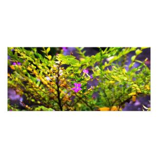flower bookmark customized rack card