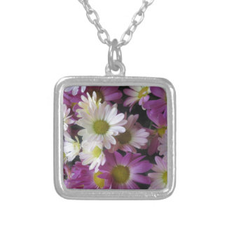 FLOWER Bouquet Butterfly Garden: Elegant Gifts Square Pendant Necklace