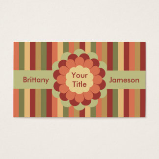 Flower Bow, Ribbon & Stripes Business Card