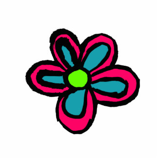 Flower Cartoon Photo Sculpture Key Ring