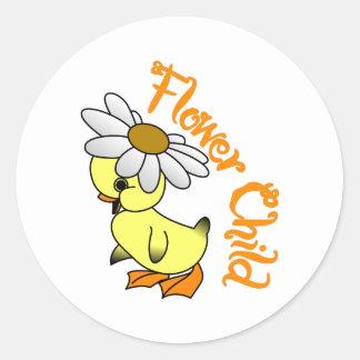 Flower Child Classic Round Sticker