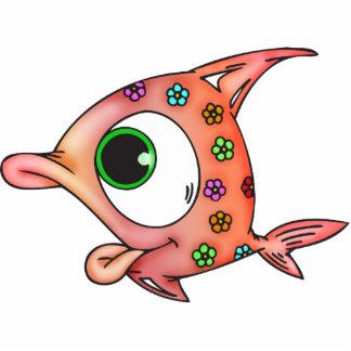 Flower Child Fish Standing Photo Sculpture