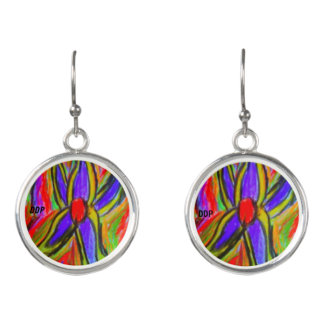 flower colorful earrings