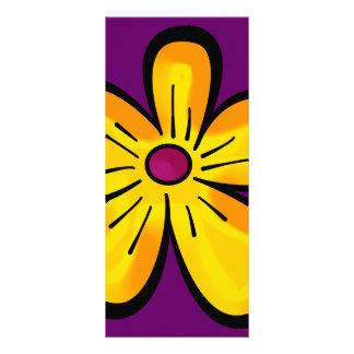 Flower copy custom rack card