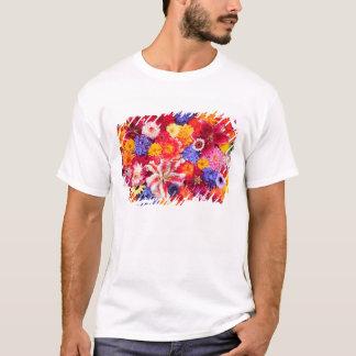 Flower design of Dalhia, Oriental Lilies, T-Shirt