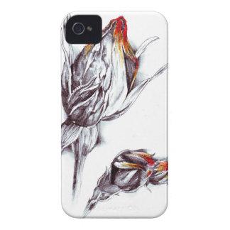Flower drawing sketch art handmade Case-Mate iPhone 4 case