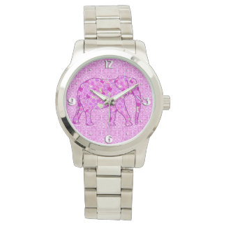 Flower elephant - orchid and magenta watch