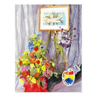 Flower Festival Stanhope Forbes Postcard