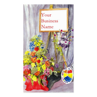 'Flower Festival (Stanhope Forbes)' Profile Card Business Cards