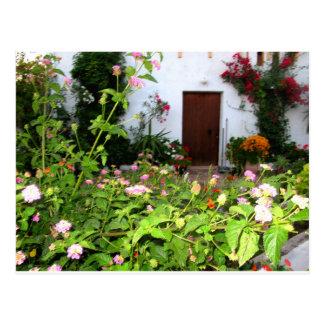 Flower filled garden in Chania Crete Greece Postcards