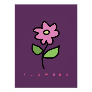 flower floral decor walls poster