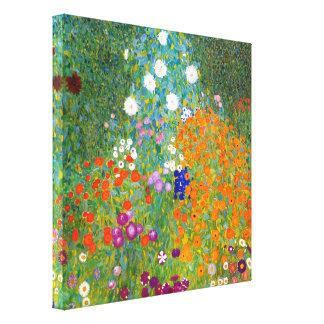 Flower Garden by Gustav Klimt Canvas Print