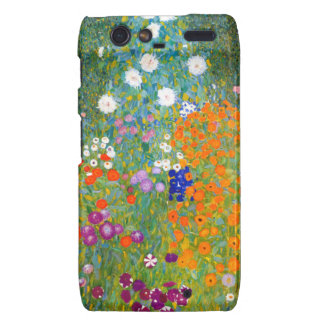 Flower Garden by Gustav Klimt Vintage Floral Motorola Droid RAZR Cover