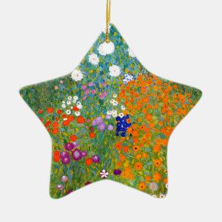 Flower Garden by Gustav Klimt Vintage Floral Ornaments