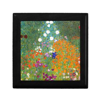 Flower Garden by Gustav Klimt Vintage Floral Trinket Box