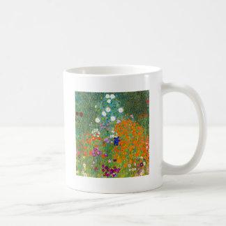 Flower Garden by Gustav Klimt Vintage Floral Mugs