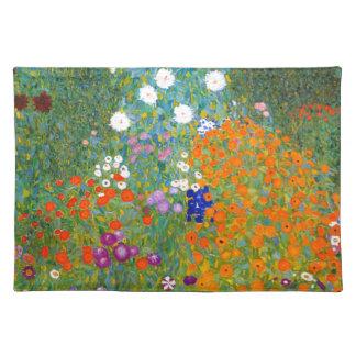 Flower Garden by Gustav Klimt Vintage Floral Place Mat