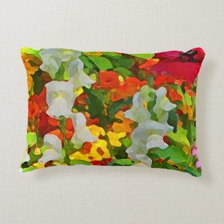 Flower Garden Colors Accent Pillow
