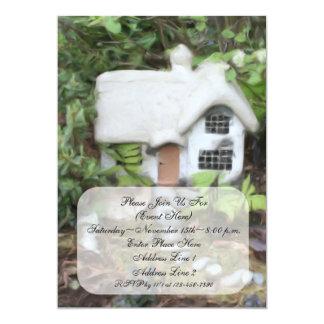 Flower Garden Cottage Painting Invitation