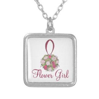 Flower Girl Bridal Party Bouquet Rose Necklace