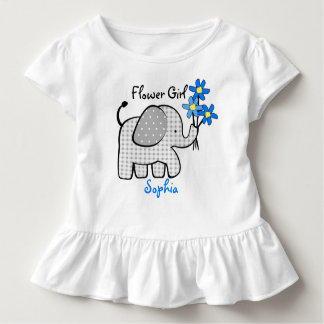 Flower Girl Elephant with Pink Flowers Toddler T-Shirt