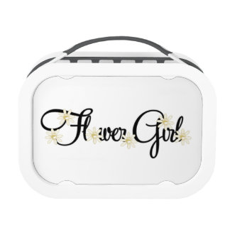 Flower Girl (gold flowers) Lunch Boxes
