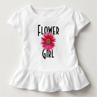 Flower Girl Pink Gerbera Daisy Wedding Toddler T-Shirt