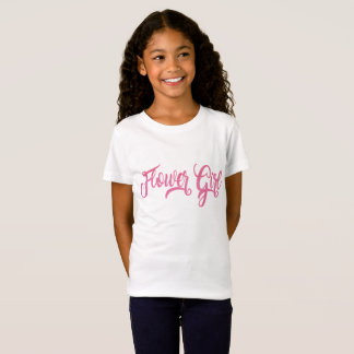 Flower Girl Pink Glitter T-Shirt