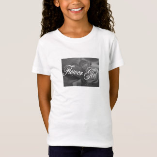 Flower Girl - (roses in black & white) T-Shirt