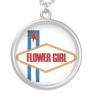 Flower Girl Silver Plated Necklace