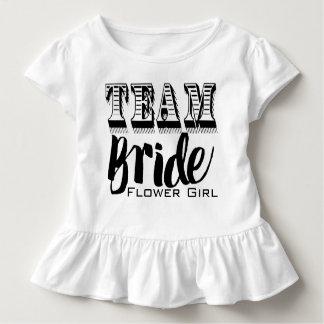 Flower Girl Team Bride Hand Lettered Toddler T-Shirt