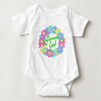 Flower Girl wreath Baby Bodysuit