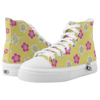 Flower Girl Yellow Pattern High Tops