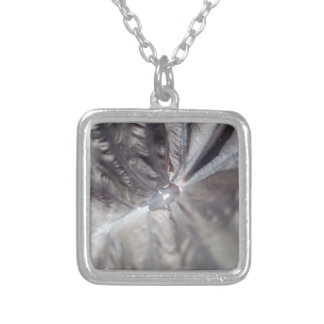 Flower Interior Silver Plated Necklace