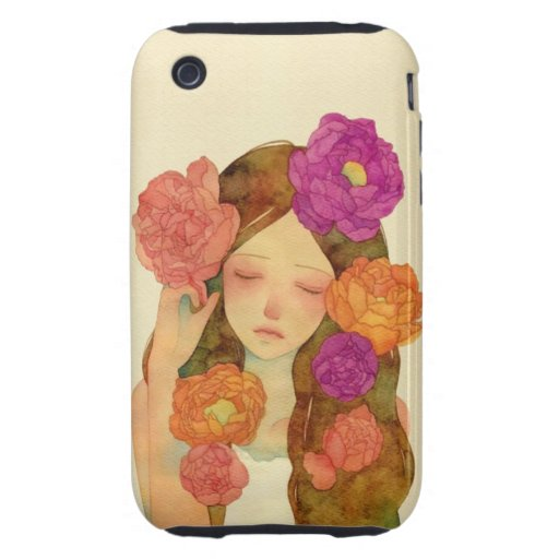 Flower Lady iPhone 3 Tough Cover