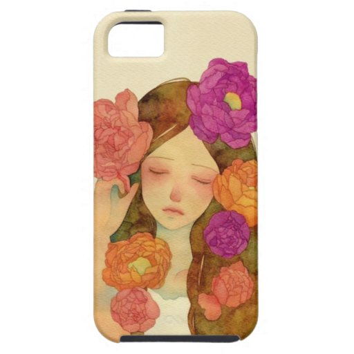 Flower Lady iPhone 5 Cover