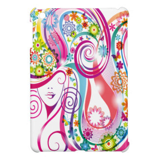 Flower Lady Case For The iPad Mini