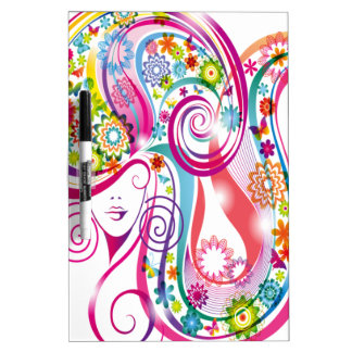 Flower Lady Dry-Erase Boards