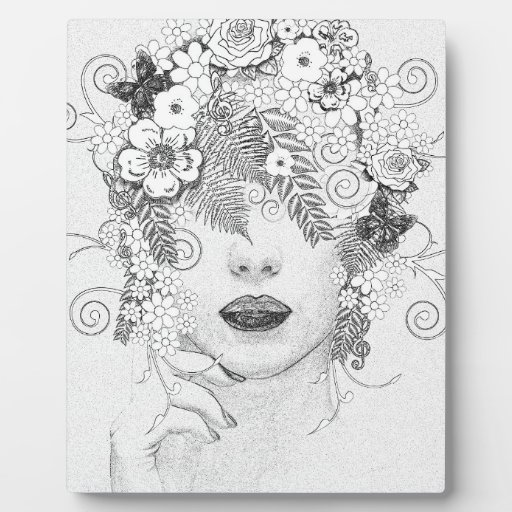 Flower Lady Photo Plaque