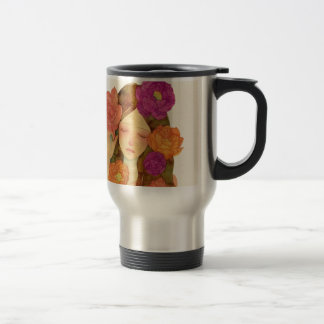 Flower Lady Travel Mug