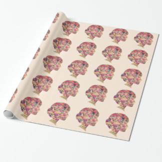 Flower Lady Wrapping Paper