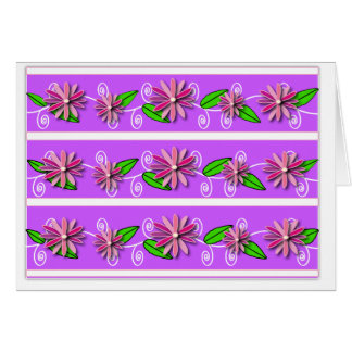 Flower Maidens In a Row Card