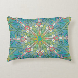 Flower mandala decorative cushion