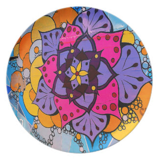 Flower Mandala Plate