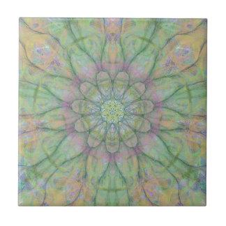 Flower mandala tile