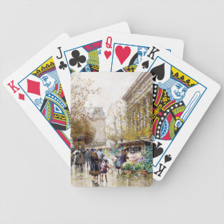 Flower Market at the Madeleine, Paris Bicycle Playing Cards