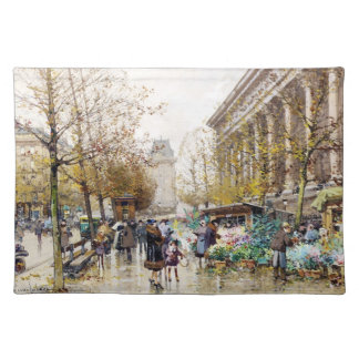 Flower Market at the Madeleine, Paris Placemat